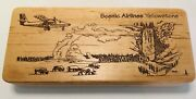 Scenic Airlines Pen With Etched Wood Case And Souvenir Lapel Pin - Yellowstone