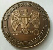 Authentic Nsa National Security Agency Crd Challenge Coin