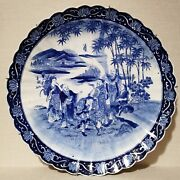Antique Chinese Blue And White Porcelain Plate. 18th-19th Century.