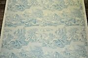 12 Yds Equestrian Fabric Stroheim And Romann French Country Blue Toile Hunt