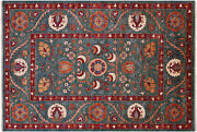 6and039 8 X 9and039 10 Hand-knotted William Morris Wool Rug - Q5182
