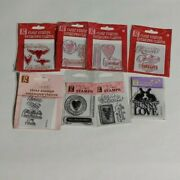New Studio G Clear Stamp And Gems Valentines Day Fun Fun Fun Lot Of 8 V1