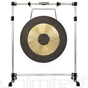 34 Chau Gong On The Gibraltar Gong Stand With Wheels Gprgsl And Mallet