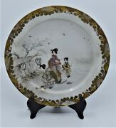 Fine Hand Painted Calendar Month Display Plate Dish Japan Asian Vintage