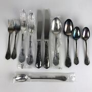 11 Pieces Christofle Marly Silver Plate France 2 Knives, 4 Forks, 5 Spoons