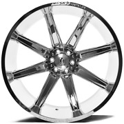 24x14 Chrome Axe Artemis Offroad Wheels Rims 8x165.1 Inch 26 22 12
