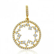 Christmas 1.30ct Natural Round Diamond 14k Solid Yellow Gold Pendant