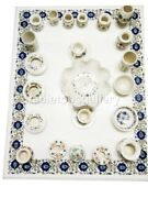 4and039x3and039 Marble Beautiful Dining Table Top Lapis Floral Inlay Living Art Decor W544
