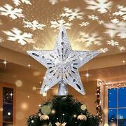 Yostyle Christmas Tree Topper Lighted With Led Snowflake Projector Lights Lig...