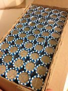 Full Box Of Nickels. 50 Rolls 100 Circulated Modern Coins Machine Crimped.