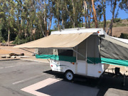 8ft Awning Beige, Pop Up Tent Trailer, Camping Trailer, Rv. By Ez Lite Campers®