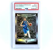 2018-19 Chronicles Obsidian Luka Doncic Rc Silver Prizm 571 Preview Psa 10💎gem