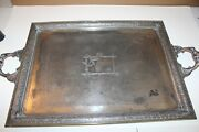 Pairpoint Mfg Co - Quadruple Plate - Serving Tray - Stylized Flowers-spiderweb