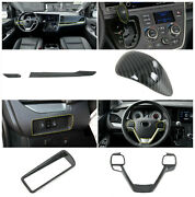 Carbon Fiber Accessories Interior Kit Cover Trims For Toyota Sienna 2015-2020