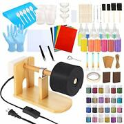 128 Pcs Epoxy Glitter Tumbler Turner Full Kits With Wooden Cup Spinner, 36 Pcs