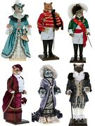 Hand-painted Collectible Doll Cat Porcelain Toy Interior Toys
