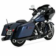 Vance And Hines Matte Black Power Duals Head Pipes For Harley 09-16 Touring