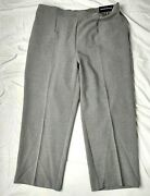 Alfred Dunner Women's Sz 20w Smart Investment 2018/grey Classic Fit Pants Nwts