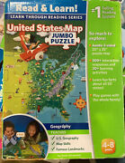 Leapfrog Interactive Us Map Jumbo Floor Tag Reading 2 Sided Geography Puzzle
