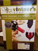 Vintner's Best Wine Making Equipment Kit With Glass Carboy Home Brew 3010