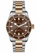 Gevril Menand039s 48603 Yorkville Swiss Automatic Two-tone Ip Steel Date Watch