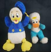 Lot Of Two Vintage Donald Duck Rubber Face Stuffed Animals
