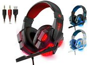 3.5mm Wired Gaming Headset With Mic Led Headphones For Ps3 Ps4 Xbox X S One 360