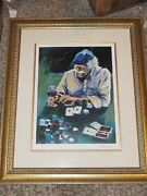 Aldo Luongo Full House And Red Wine Proof Framed 23 X 27