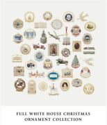 1981 To 2020 Set Of Official White House Christmas Ornaments Gold New In Boxes