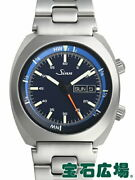 Sinn 240.st.gz 240.st.gz Menand039s Watch Black Blue Day-date Silver Stainless Steel