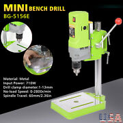 Mini Electric Bench Drill Press Stand Portable Workbench Wood Drilling Machine