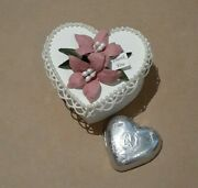 Shabby Handmade To Order Thank You,lily Flower Rose Heart Favor Boxes 20,50,100