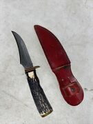 Vintage Schrade Usa 498 Bowie Knife With Sheath