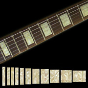 Fretboard Markers Inlay Stickers Decals For Guitars And Bass - Lp Sg Blocks - Aged