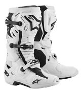 Alpinestar Adult Tech 10 Supervented Motocross Mx Boots White - All Sizes