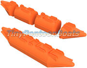 26 X 12and039 Dual Nose Modular Plastic Floats Pontoons Mini Work Barge Usv Robot