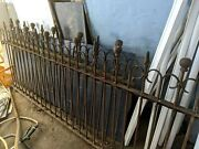 100 Year Old Antique Iron Fence Sections 2 Make An Offer
