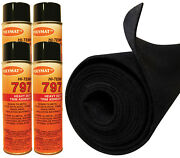 12ft X 45in Black S60 Polymat Carpet+ 4 Cans 797 Glue For Wave Runner Bunk Liner