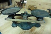 Antique Scale Fairbanks Cast Iron And Copper Plates Weight Pat 1896 Year