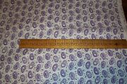 Vtg 40and039s 50and039s Cotton Doll Dress Quilt Fabric Lavender Paisley On White 3 Yards