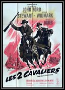 Two Rode Together - John Ford - 1961 - Original French Movie Poster 47x63 In.