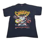 Vtg 1995 Looney Tunes Taz Kansas City Chiefs Double Sided Graphic T Shirt Size L