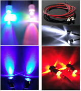 R/c Toys Model Car 5mm Led Lighting Lamps Metal Lamp Shades Headlights Wire 70mm