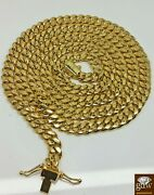 14k Gold Chain For Menand039s 7.1mm Miami Cuban Chain 26 Inch Box Lock Strong Link