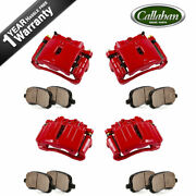 For Yukon Tahoe Escalade Silverado Avalanche Front And Rear Brake Calipers Pads