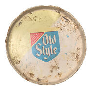 Old Style Lager Beer Tray 12andrdquo - Rusted Patina