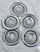 1955 Ford Wire Wheel Covers And Wire Clips 1956 Thunderbird  Qty. 7