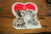 Vintage Holiday Wall Decorations – Valentine – Cats And Hearts