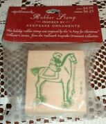 Hallmark Rubber Stamp Teddy On Horse A Pony For Christmas New In Packaging