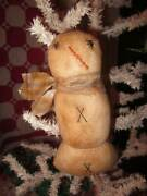 Darling Hand Made Grungy Primitive Christmas Snowman Ornament-